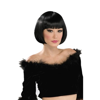 Black Chic Bob Wig for Halloween Costume