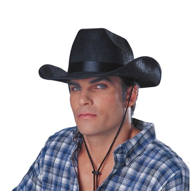 Black Cowboy Hat - Rancher