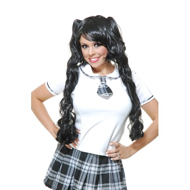 Black Curly Wig - Womens