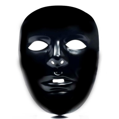 Black Do It Yourself Adult Halloween Costume Mask