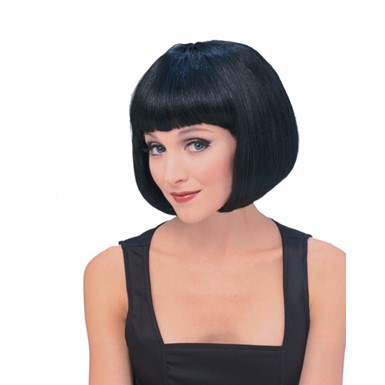 Black Ebony Super Model Bob Wig