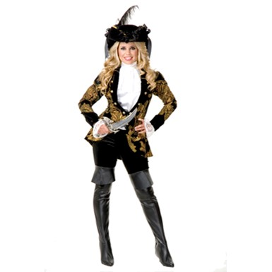 Black Elegant Pirate Lady Costume