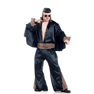 Black Elvis Presley Costume - Rock Legend - Mens Halloween Costumes