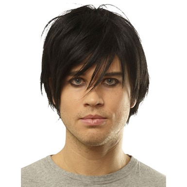 Black Emo Wig for Adult Halloween Costume
