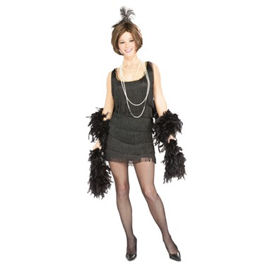 Black Flapper Womens Costume - Chicago Flapper