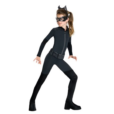 Black Girls Catwoman Catsuit Costume