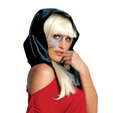 Black Lady Gaga Womens Halloween Head Scarf