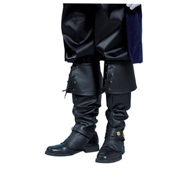 Black Pirate Vinyl Boot Tops Costume Accessory