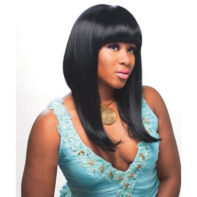 Black Pop Star Halloween Costume Wig