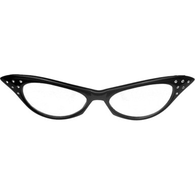 Black Rhinestone Glasses