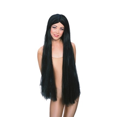 Black Witch Costume Wig - Womens