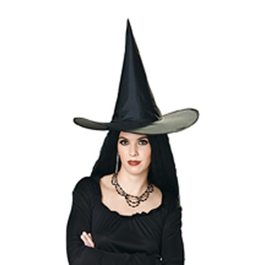 Black Witch Hat - Taffeta