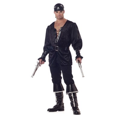 Blackheart the Pirate Mens Halloween Costume