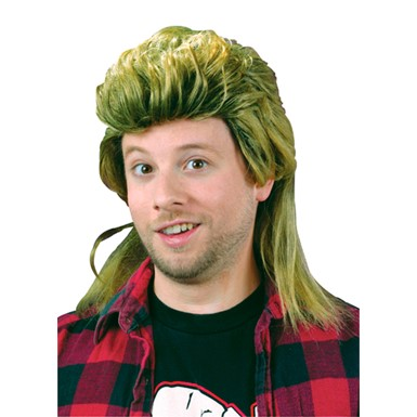 Blond Mullet Country Wig for Mens Halloween Costume