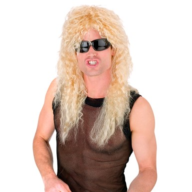 Blond Rock Star Wig for Mens Halloween Costume