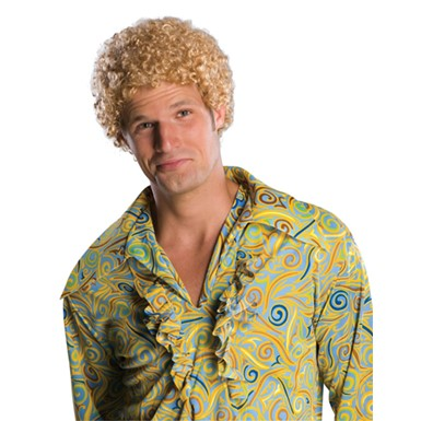 Blonde Afro Wig Costume - Mens