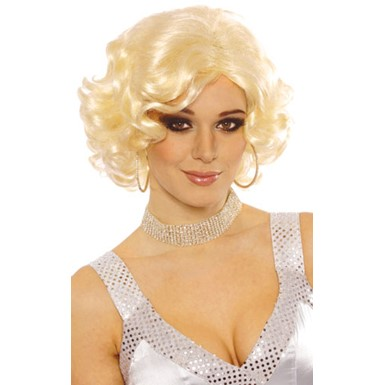 Blonde Hollywood Starlet Halloween Costume Wig