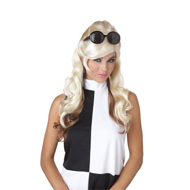 Blonde/Brown 60's Bump Wig for Halloween Costume