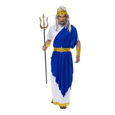 Blue Neptune Greek God Costume