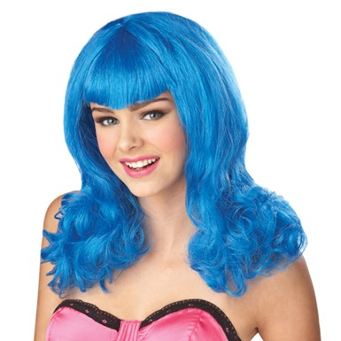 Blue Pop Wig  Womens Halloween Costume Accessory