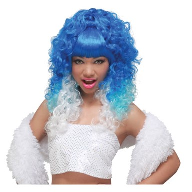 Blue/White Rap Princess Wig