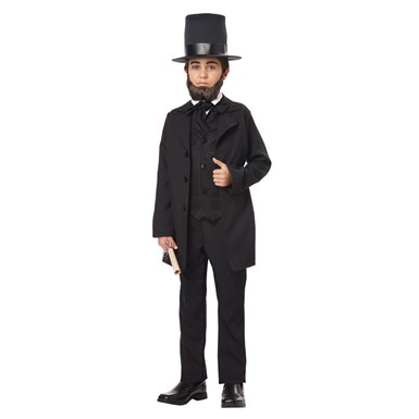 Boys Abraham Lincoln Halloween Costume