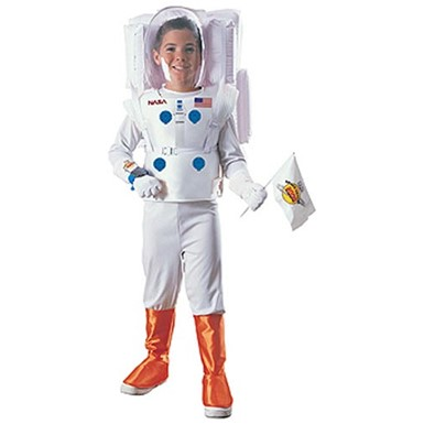 Boy's Astronaut Costume - White