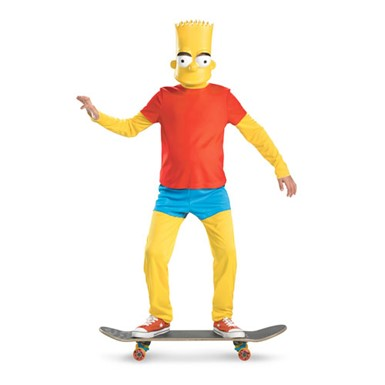 Boys Bart Simpson Cartoon Halloween Costume