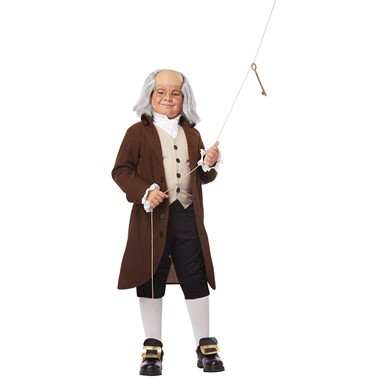 Boys Benjamin Franklin Colonial Man Costume