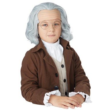 Boys Benjamin Franklin Halloween Wig