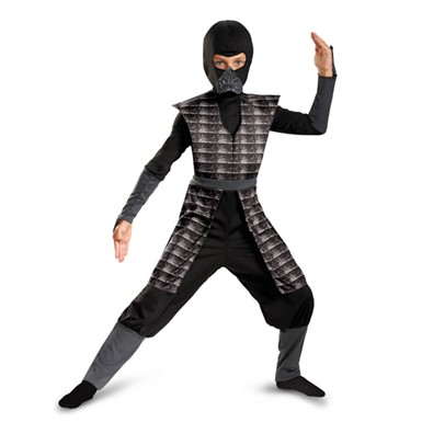 Boys Black Evil Ninja Halloween Costume