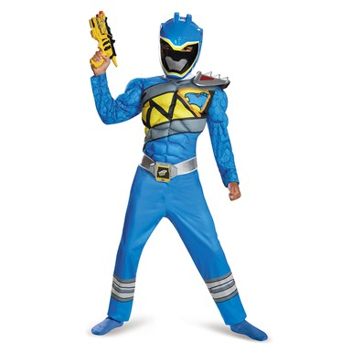 Boys Blue Ranger Dino Charge Classic Muscle Costume