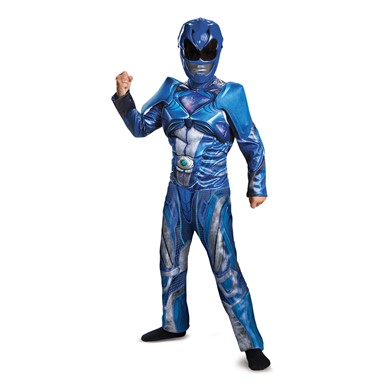 Boys Blue Ranger Movie Muscle Costume
