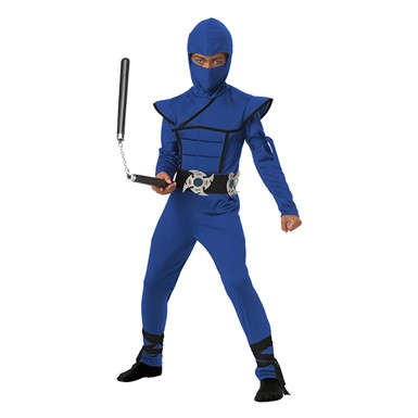 Boys Blue Stealth Ninja Halloween Costume