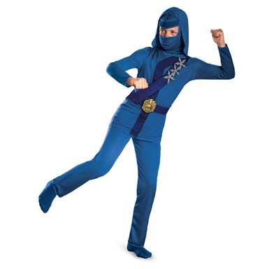 Boys Blue Thunder Ninja Classic Costume