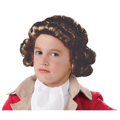 Boys Brown Colonial Costume Wig