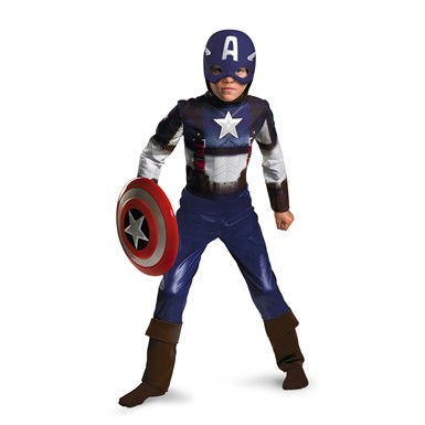 Boys Captain America Retro Halloween Costume