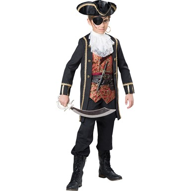 Boys Captain Scurvy Pirate Costume
