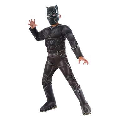 Boys Civil War Deluxe Black Panther Halloween Costume