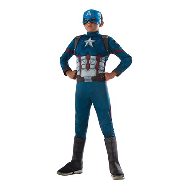 Boys Civil War Deluxe Captain America Costume