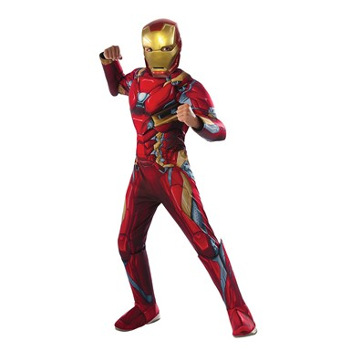 Boys Civil War Deluxe Iron Man Halloween Costume