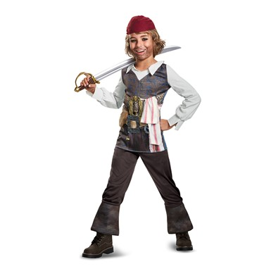 Boys Classic Captain Jack Pirate Halloween Costume