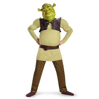 Boys Classic Shrek Muscle Halloween Costume