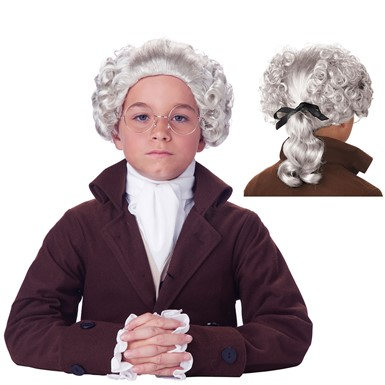 Boys Colonial Peruke Halloween Wig