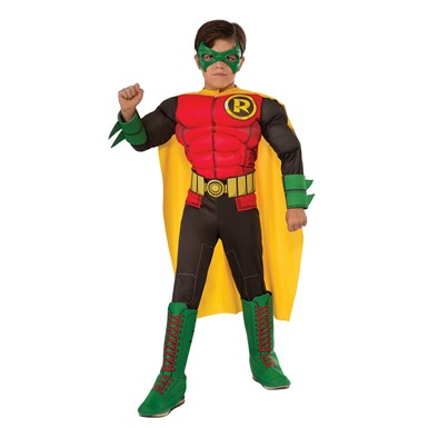 Boys DC Comic Deluxe Robin Halloween Costume