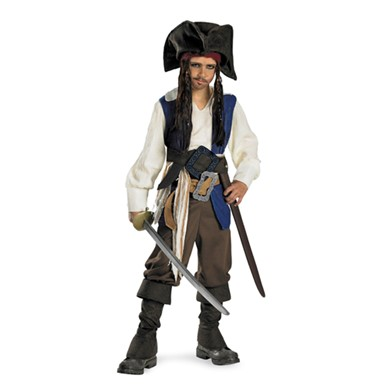 Boys Deluxe Jack Sparrow Costume