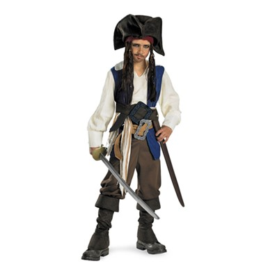 Boys Deluxe Jack Sparrow Pirate Costume
