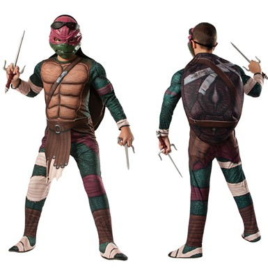 Boys Deluxe Ninja Turtles Raphael Costume