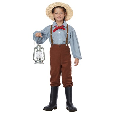Boys Early Pioneer American Halloween Costume