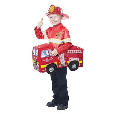 Boys Fire Truck Hero Costume size M/L 3T-6T